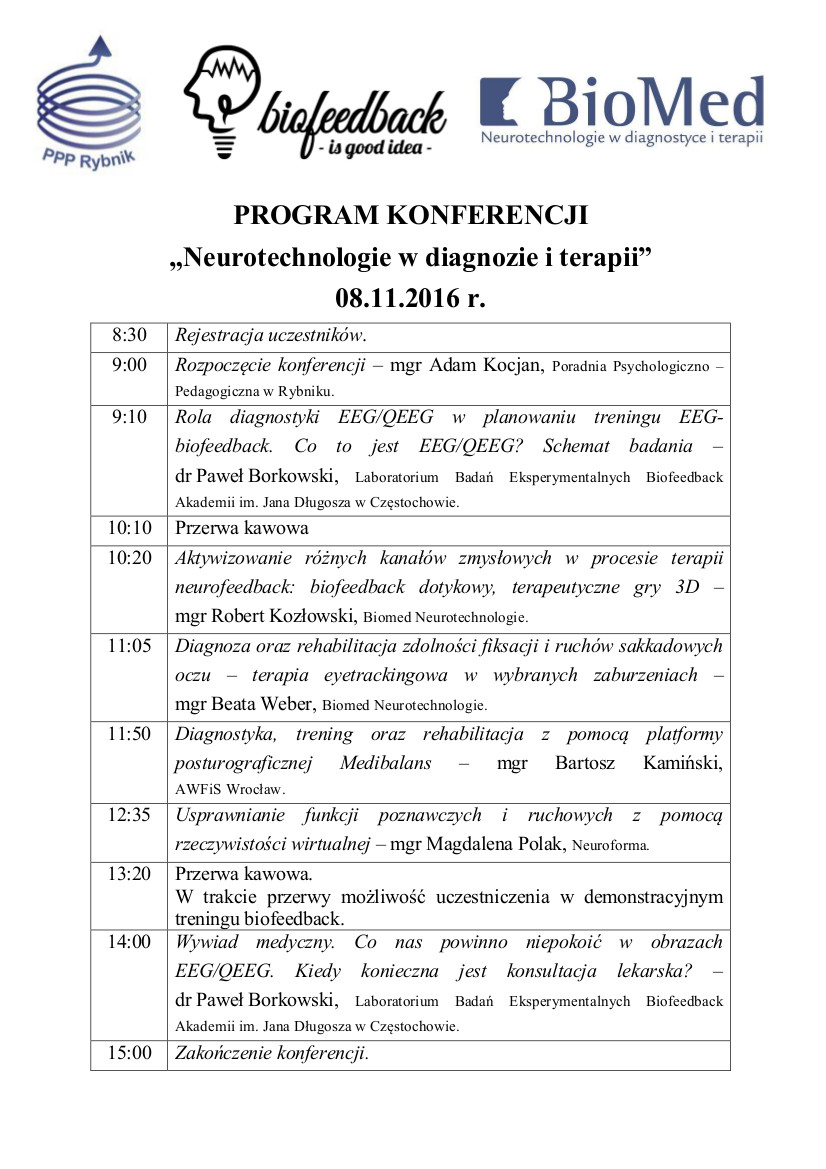 Program Neurotechnologie w diagnozie i terapii